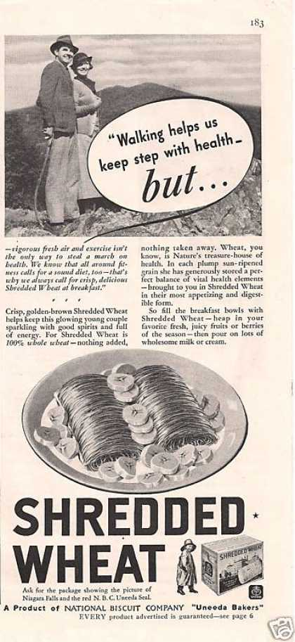 Shredded Wheat Cereal National Biscuit Company (1935)