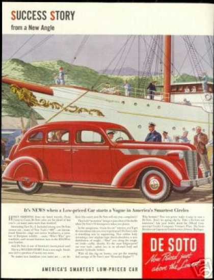 Red DeSoto De Soto Yacht Success Story Car (1937)
