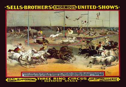 Sells Brothers' Enormous United Shows: Three Ring Circus