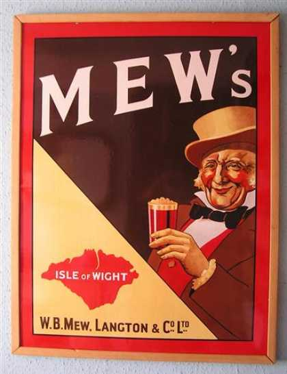Mew's Beer Enamel Sign