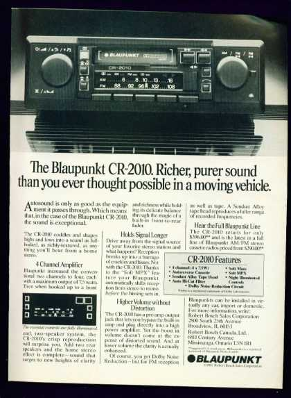 Blaupunkt Cr-2010 Car Stereo 1982