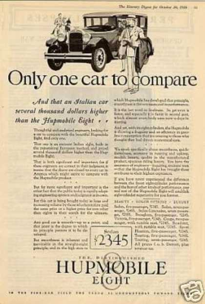 "Hupmobile Eight Car Ad ""Only One Car... (1927)"