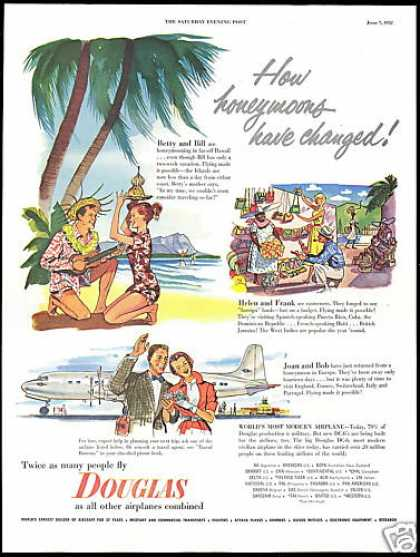 Douglas DC-6 DC6 Airplane Honeymoons (1952)
