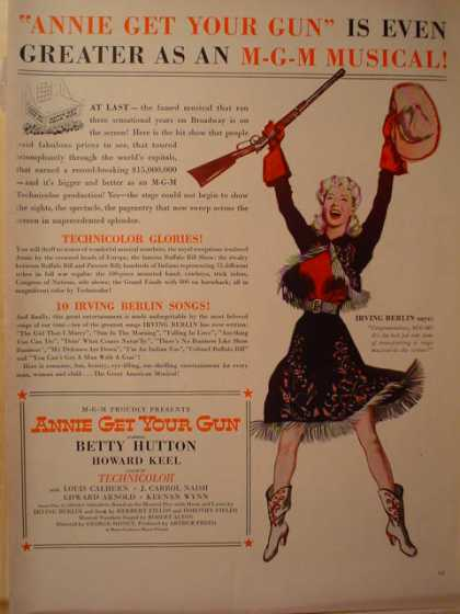 Movie Annie Get your Gun Betty Hutton (1950)