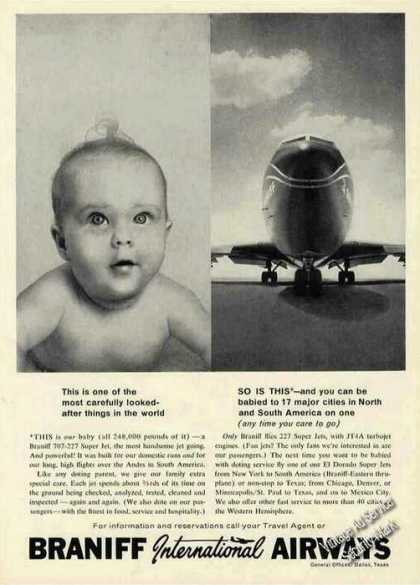 Braniff International Airways Baby Photo (1962)
