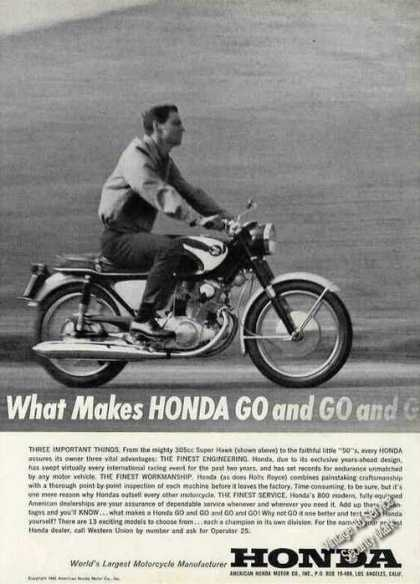What Makes Honda Go and Go..305cc Super Hawk (1963)