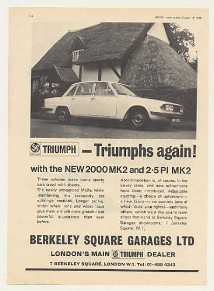 Triumph 2000 MK2 Berkeley Square Garages UK (1969)