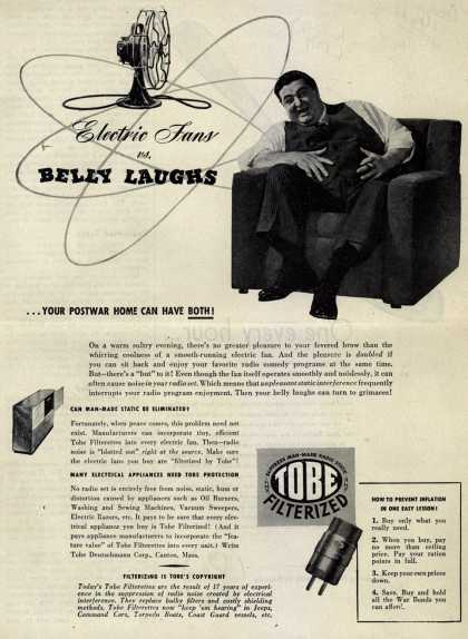 Tobe Deutschmann Corporation's Radio Noise Filter – Electric Fans vs. Belly Laughs (1945)