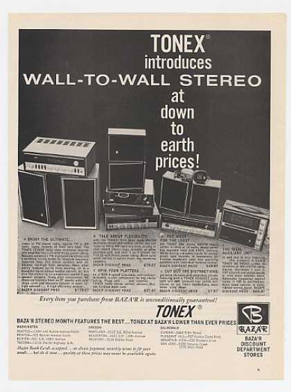 Tonex Stereo Stereos Baza'r Department Store (1969)