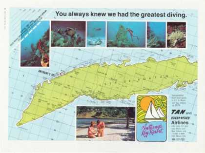 Isla De Roatan Honduras Anthonys Key Resort Ad T (1976)