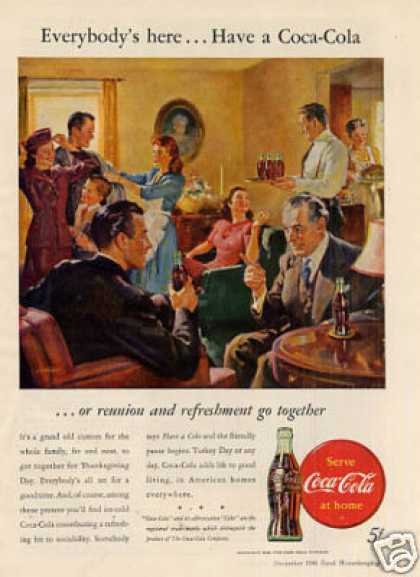 "Coca-cola Ad ""Everybody's Here... (1946)"