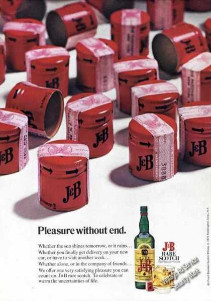 J&amp;b Rare Scotch Rare Pleasure Without End (1973)