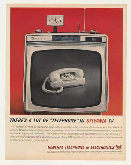 GTE Telephone in Sylvania TV Television (1963)