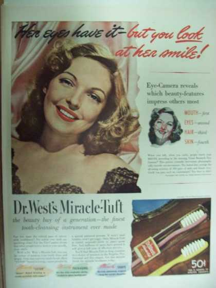 Dr West Miracle Tuft Tooth Brush (1941)