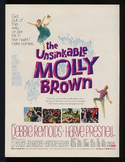 Debbie Reynolds Unsinkable Molly Brown Movie (1964)