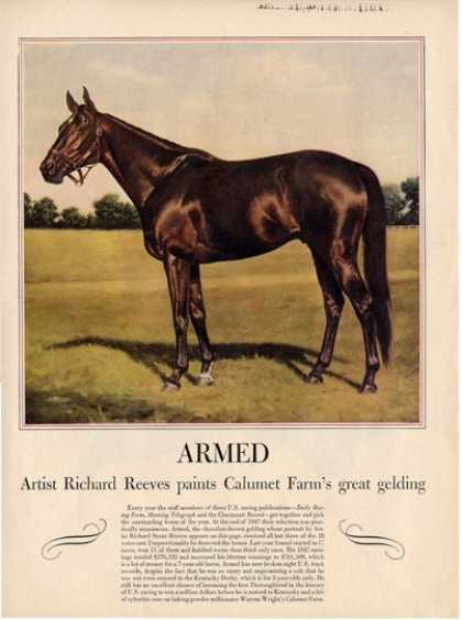 Horse Armed Gelding Richard Reeves T (1948)