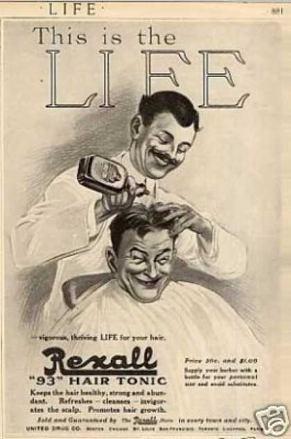 "Rexall ""93"" Hair Tonic (1915)"