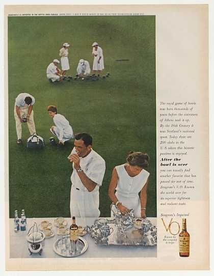 Royal Game of Bowls Lawn Bowling Seagram's VO (1962)