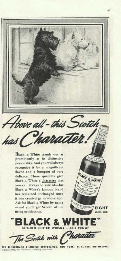 Black & White Scotch With Character (1938)