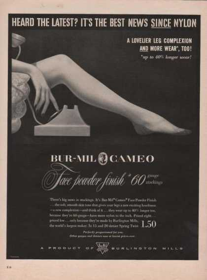 Burlington Mills Bur Mil Cameo Stockings A (1951)