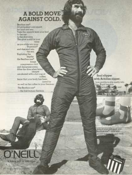 O'neill Scuba Diver Diving Body Cold Shield (1976)