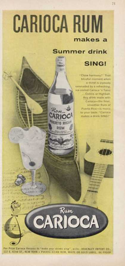 Carioca Rum Bottle Canoe Guitar (1957)
