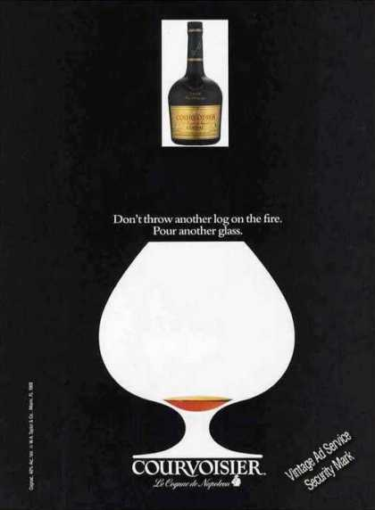 "Courvoisier Cognac ""Don't Throw Another Log On"" (1989)"