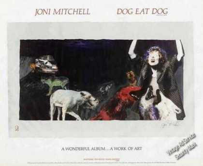 "Joni Mitchell Art ""Dog Eat Dog"" Album (1985)"