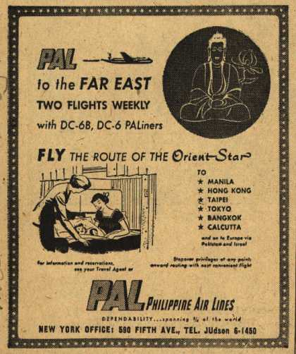 Philippine Air Line's Far East – PAL to the Far East Two Flights Weekly (1953)
