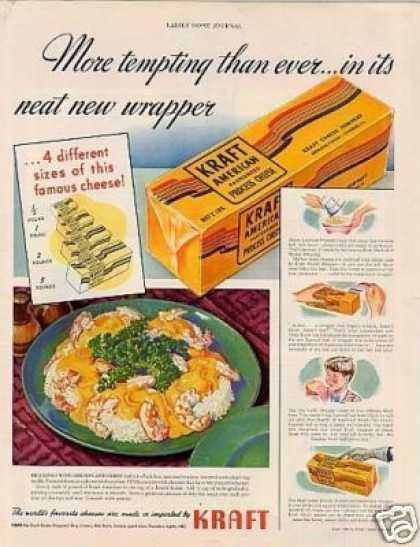 "Kraft Cheese Ad ""More Tempting Than... (1940)"