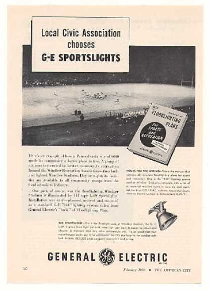 Windber PA Stadium General Electric Sportslight (1950)