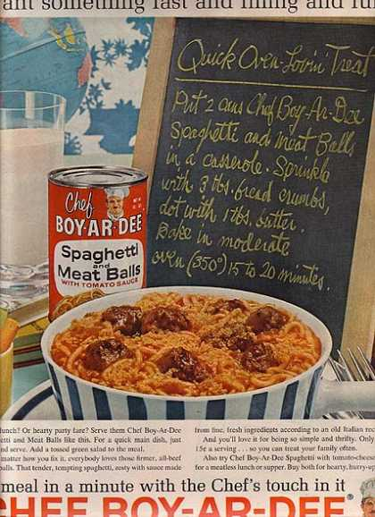 Chef Boy-Ar-Dee's Spaghetti and Meat Balls (1962)