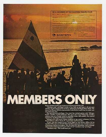 Eastern Airlines Members Only Travel Club ETC (1967)