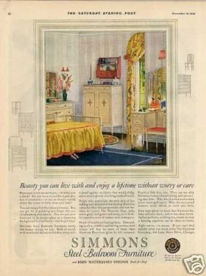 Simmons Bedroom Furniture Color (1924)
