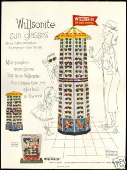 Willsonite Sunglasses Display Vintage (1954)