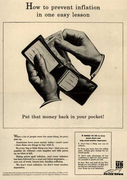 War Advertising Council's Anti-inflation – How to prevent inflation in one easy lesson (1944)