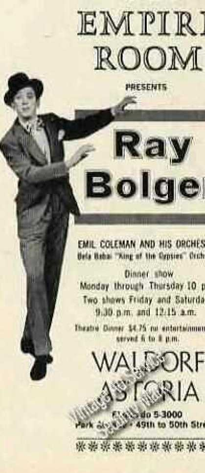 Ray Bolger Photo Empire Room Waldorf Astoria (1960)