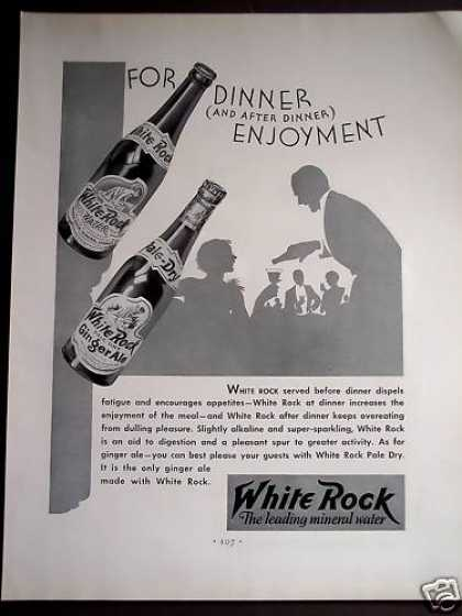 White Rock Ginger Ale and Water Drink (1932)