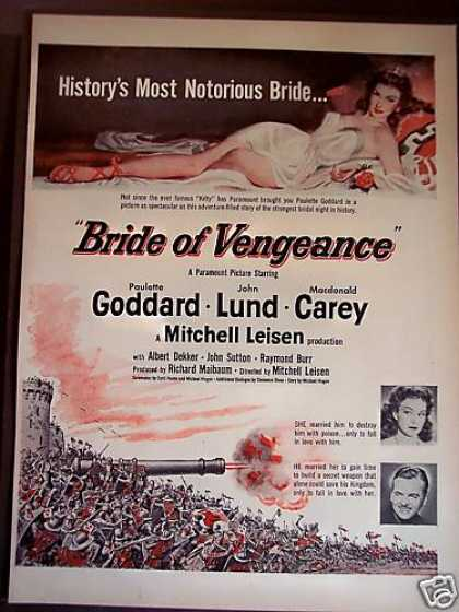 Bride of Vengeance Movie Promo (1949)