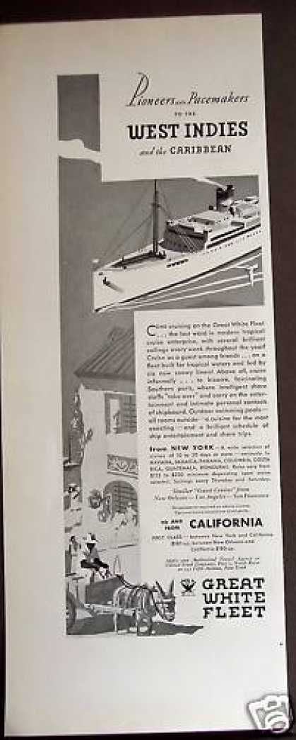 Great White Fleet Cruise Carribbean Travel (1934)