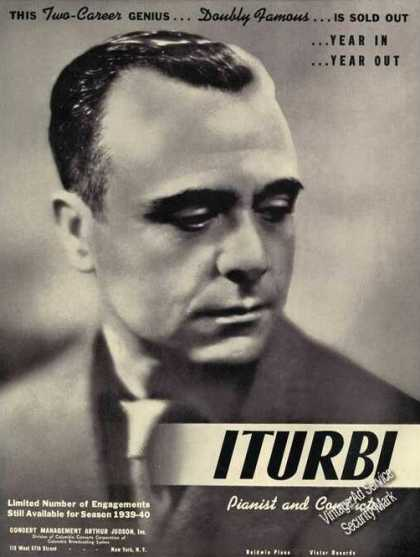 Jose Iturbi Photo Conductor Piano Rare (1939)