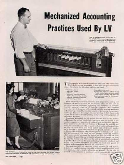 """Mechanized Accounting Practices By Lv"" Article (1951)"