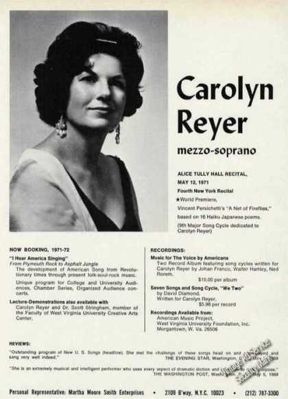 Carolyn Reyer Photo Music Trade (1971)
