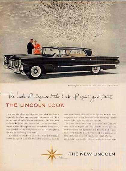 "Lincoln Landau Car Ad ""The Look of Elegance... (1958)"