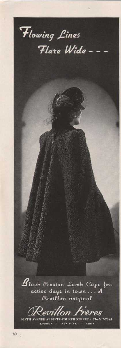 Revillon Freres Lamb Womens Cape (1939)