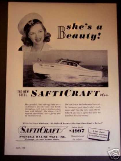 Safticraft Safti Craft 28' Beauty Yacht Boat (1950)