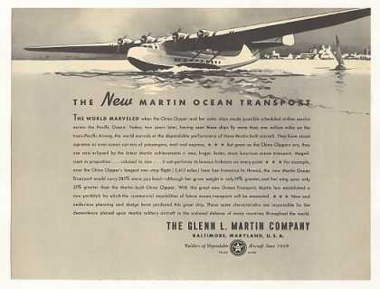'37 Glenn L Martin Ocean Transport Airplane Aircraft (1937)