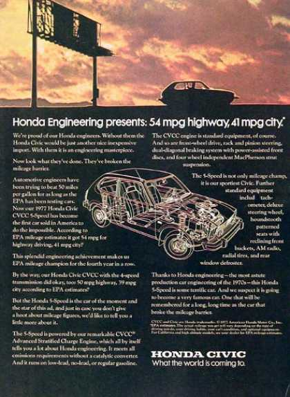 Honda Civic CVCC #1 (1977)
