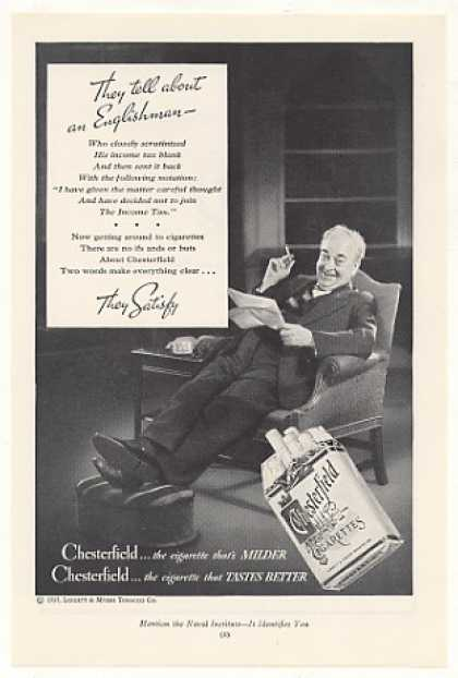 Englishman Not Join Income Tax Chesterfield (1935)