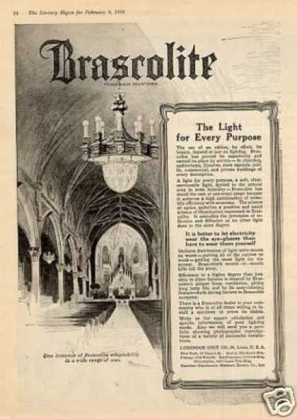 Brascolite Lighting (1918)